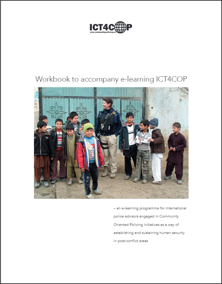 Image of the first page of the PDF-file: Workbook to accompany e-learning
